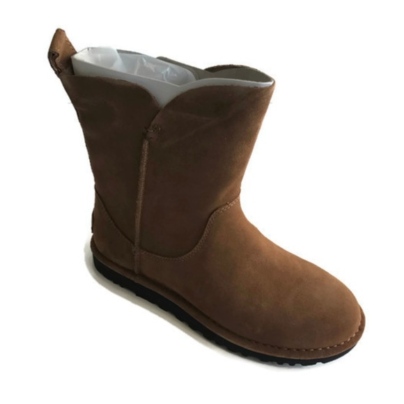 16077840163 UGG Womens Alida Suide Unlined Boot Chestnut Sz 8 NWT